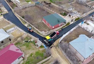 Sabunçu rayonunda uzunluğu 20 kilometr olan küçə və yol təmir edilib