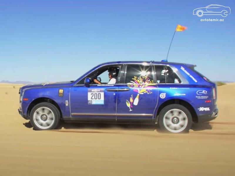 Rolls-Royce Cullinan 3000 kilometrlik rallidə qalib gəlib