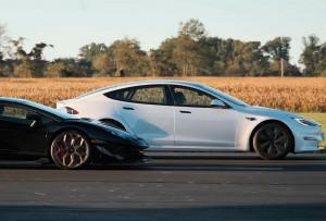 Ən güclü Tesla, Lamborghini ilə yarışdı. VİDEO